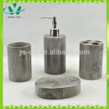 Muebles de baño de cerámica de bambú, accesorios de baño chino