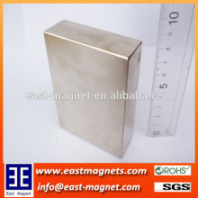 big block neodymium nickel coated magnet for sale/ningbo east magnet factory strong block magnet for sale
