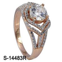 Anillo de las mujeres del Zirconia de la plata esterlina de la joyería 925 de la manera (S-14483R)