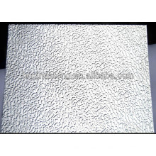 Feuille d'aluminium gaufré en stuc oxydant
