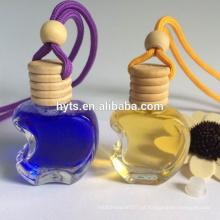 frasco de forma de maçã para perfume de carro aroma