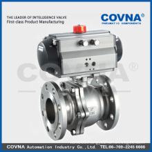 Flange Stainless Steel Ball Valve with double acting Pneumatic actuator