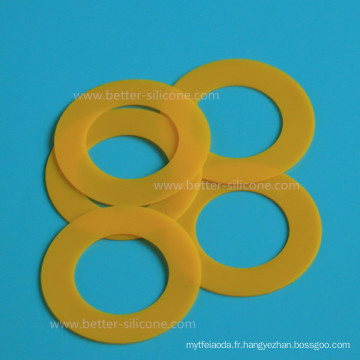 Rondelle de cylindre en caoutchouc de silicone sur mesure