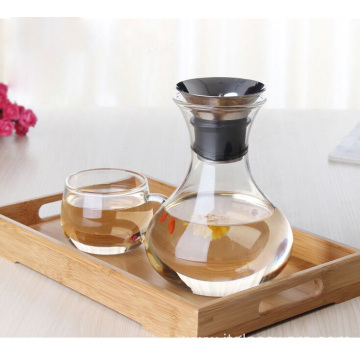 Manufactur standard for Stainless Steel Lid Glass Carafe Handcraft Transpanent Glass Coffee Pitcher export to South Korea Exporter