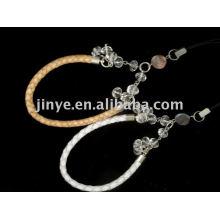 moda frisada jóias trança pulseira de couro