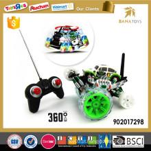 8 Função rotação 360 carro de controle remoto com luz