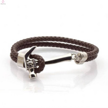 Customised Hammer Leather Rope Wrap Bracelet For Men