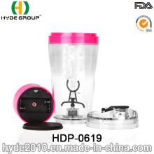 Bouteille de shaker électrique en plastique sans BPA 500ml adaptée aux besoins du client (HDP-0619)