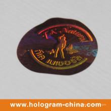 Etiqueta 3D feita sob encomenda do holograma do laser