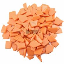 Orange Irregular Molded Sintered Glass