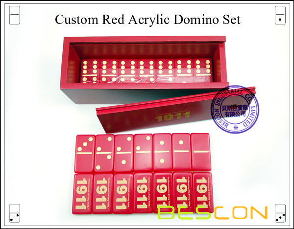 Red Acrylic Domino Set-2