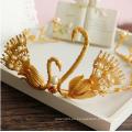 Corona del oro 24k y Tiara China Tradicional China de la corona Mujeres que desyerman la tiara