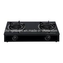 Cuisinière à gaz / cuisinière à gaz à 2 brûleurs en verre tempéré Infrarouge 165