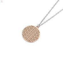 Geometria sagrada flor da vida Merkaba pingente de colar