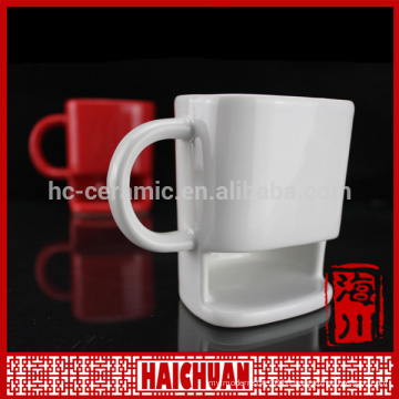 coffee cup with biscuit holder