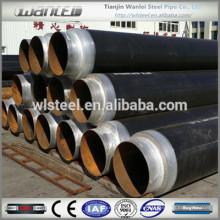 Стальная труба черного цвета для подземного трубопровода