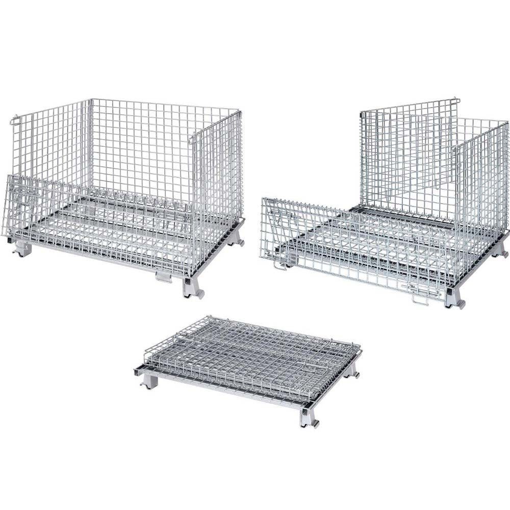 China Foldable Galvanized Wire Mesh Storage Container Manufacturers