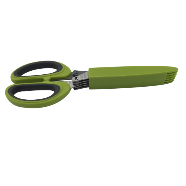 Stainless Steel Herb Scissors With 5 Blades 2