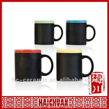 Taza de cerámica de la tiza, taza de la pizarra, esc