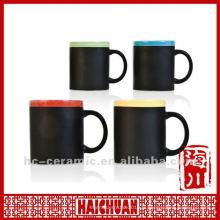 Tasse à la craie en céramique, tasse de tableau noir, écrire sur la tasse