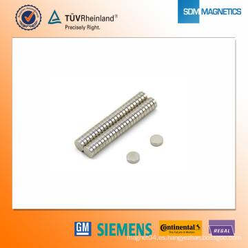 Imán de neodimio N42 D5 * 1.5mm