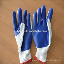 FURUNDA Sicherheits-Arbeitsbaumwolle gefütterte Gummi-beschichtete Handschuhe