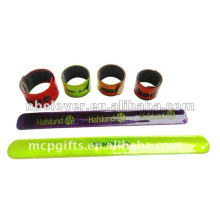 pvc reflective snap bracelet with printing