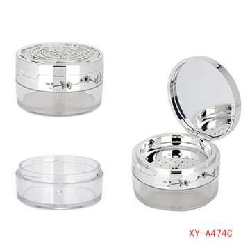 Luxury Cosmetic Loose Powder Case With Mirror