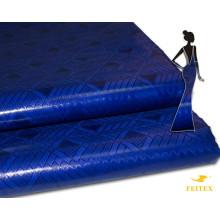 2017 Последний Дизайн Базен Стили Парчи Для Дамы Королевский Синий Цвет Африканский Женская Одежда Shadda Парчи Свадебные Ткани