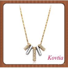 Collar de oro grueso collar accesorios con estilo para las mujeres 14k oro joyas al por mayor