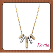 Thick cadeia de ouro colar acessórios elegantes para as mulheres 14k atacado jóias de ouro