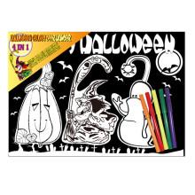 enfants créative Halloween thème scratch peinture bricolage, porte cintre, ne pas déranger porte cintre