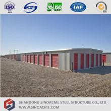 Estrutura de construção de armazenamento de estrutura de aço leve