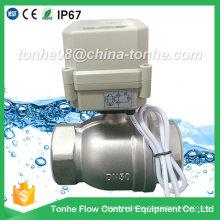 Ce IP67 2 pulgadas 2 vías Dn50 acero inoxidable Cr2 02 Válvula de bola motorizada eléctrica