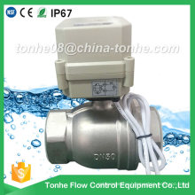 Ce IP67 2 Inch 2-Way Dn50 Stainless Steel Cr2 02 Electric Motorized Ball Valve