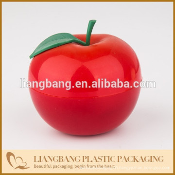 Red Apples with plastic ,double wall jar with cosmetic packaging
