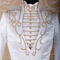 LZ001 Alibaba vestidos de boda de manga larga Vestidos de boda de cuello alto vestido de cristal