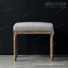 Tecido de luxo de madeira perna sala de estar antigo salão Otomano