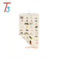 Canvas Clear Wall Hanging Jewelry Organizer Holder 80 Pockets Double Sided Storage