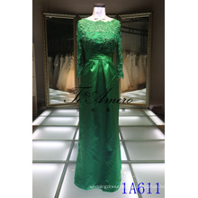 Elegante vestido da cintura do império Vestido islâmico Vestido das senhoras com mangas compridas de maxi
