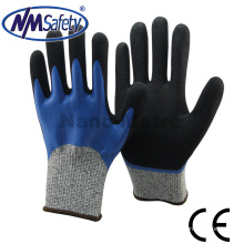 NMSAFETY double coated nitrile cut resistant gloves
