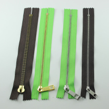 Hot Sale Closed End Stainless Steel Metal Zipper