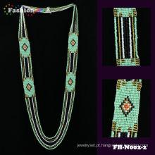 Nova moda tendência custome frisado cor de verão colar
