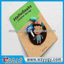 New design OEM cute soft PVC dust cap for promotional gift