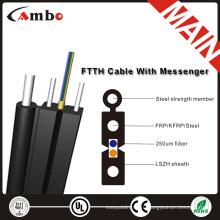 FTTH 1,2,4 сердечника, LSZH \ ПВХ волоконно-оптический кабель