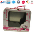 Fábrica directamente rectangular caja de hojalata con ventana