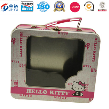 Factory Directly Rectangular Tin Box with Window