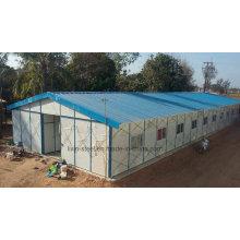 Structure en acier léger Bâtiment préfabriqué en bureaux et dortoirs