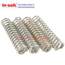 Mola de tensão helicoidal de aço inoxidável personalizada