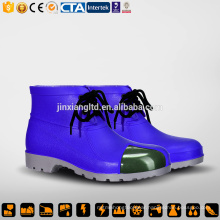 CE Steel Toecap and Sole PVC men blue rain boots & safety PVC gum boots